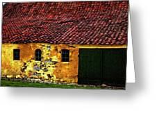 Danish Barn Watercolor Version Greeting Card