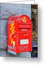 Danish Mailbox Greeting Card