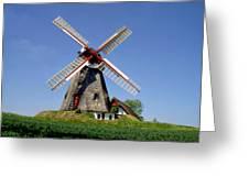 Danish Windmill Greeting Card