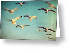 Dans Avec Les Oiseaux Greeting Card by Taylan Apukovska