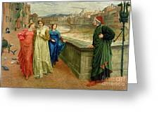 Dante And Beatrice Greeting Card