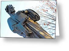Dante In Meridian Hill Park Greeting Card