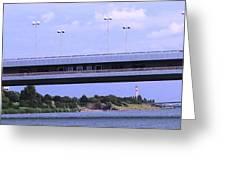 Danube River Bridges Greeting Card