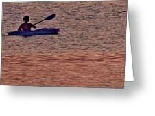 Danvers River Kayaker Greeting Card