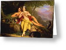 Daphnis And Chloe Greeting Card
