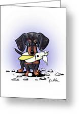 Dapple Doxie Destroyer Greeting Card