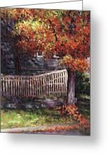 Dappled Fence Greeting Card