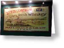 D'arcy's Old Irish Whiskey Greeting Card