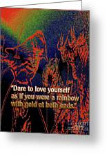 Dare To Love Yourself On National Selfie Day Greeting Card