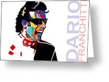 Dario Franchitti Pop Art Style Greeting Card