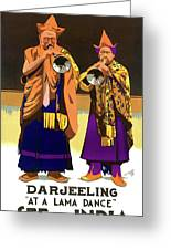 Darjeeling, Lama Dance Musicians, India Greeting Card