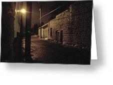 Dark Alley Greeting Card