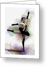 Dark Ballerina  Greeting Card