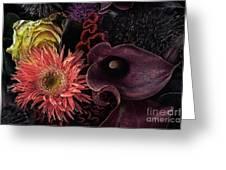 Dark Bouquet Greeting Card