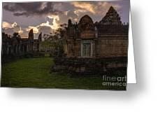 Dark Cambodian Temple Greeting Card