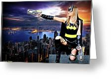 Dark City Of The Bat Greeting Card