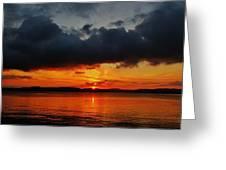 Dark Cloud Sunrise Greeting Card