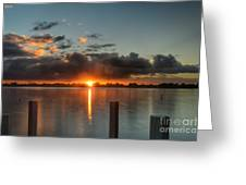Dark Clouds Horizontal Greeting Card