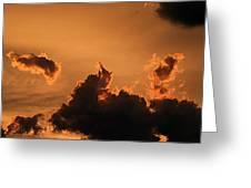 Dark Clouds Looming Greeting Card