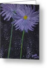 Dark Floral  Greeting Card