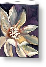 Dark Flower Greeting Card