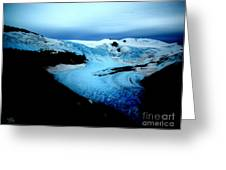 Dark Glacier Greeting Card by Beauty For God