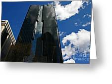 Dark Glossy Building Greeting Card