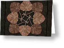 Dark Leaves Greeting Card