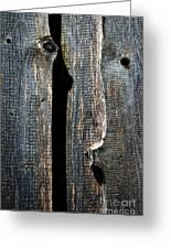 Dark Old Wooden Boards With Shadow Greeting Card