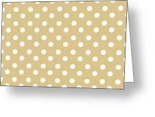 Dark Olive Polka Dots Greeting Card