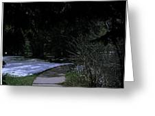 Dark Path Greeting Card