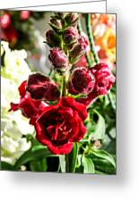 Dark Red Fancy Snapdragon Greeting Card