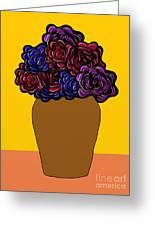 Dark Rose Folk Art Greeting Card