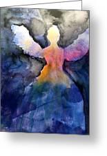 Dark Skies Angel Greeting Card