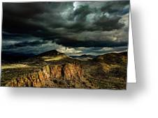 Dark Storm Clouds Over Cliffs Greeting Card