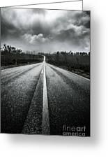 Dark Stormy Road To Cradle Mountain In Tasmania Greeting Card
