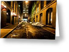 Dark Street Greeting Card