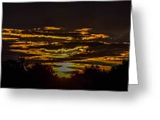 Dark Sunrise Greeting Card