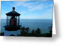 Darkened Lighthouse Greeting Card