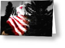 Darkness Falling On Freedom Greeting Card