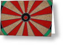 Dart Board Greeting Card