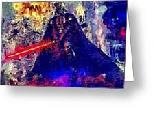 Darth Vader Greeting Card by Al Matra