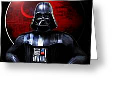 Darth Vader And Death Star Greeting Card