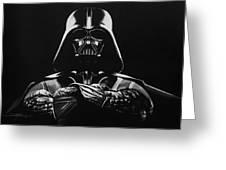 Darth Vader Greeting Card by Don Medina