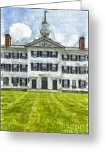 Dartmouth College Hanover New Hampshire Pencil Greeting Card