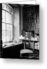 Darwins Study And Microscope, Down House Greeting Card
