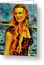 Daryl Hannah Collection - 1 Greeting Card