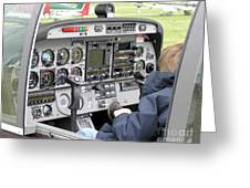 Dashboard Of A Robin Dr400 President Greeting Card