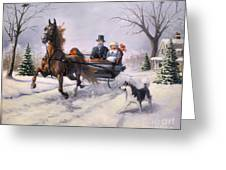 Dashing Through The Snow  II Greeting Card by Jeanne Newton Schoborg