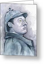 Data As Sherlock Holmes Greeting Card